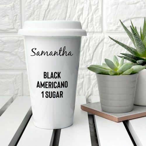 Name & Order Ceramic Travel Cup
